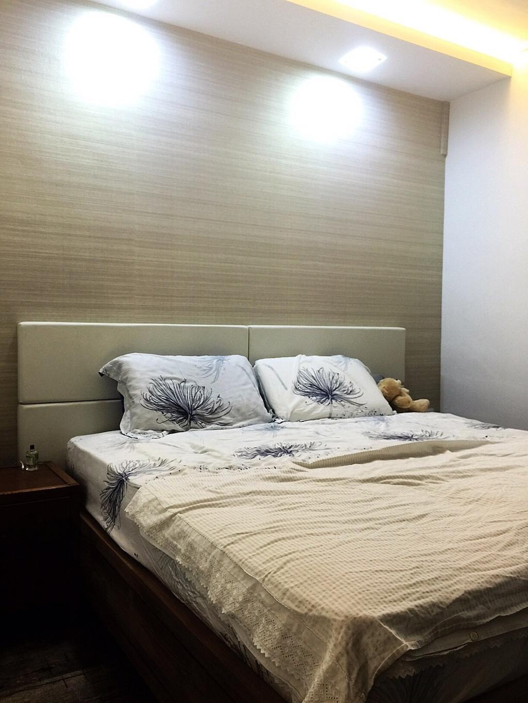 Traditional, HDB, Bedroom, Yishun Ring Road (Block 332), Interior Designer, Starry Homestead, Ceiling Lighting, Recessed Lighting, Concealed Lighting, Headboard, Bedside Table, Sink, Bed, Furniture