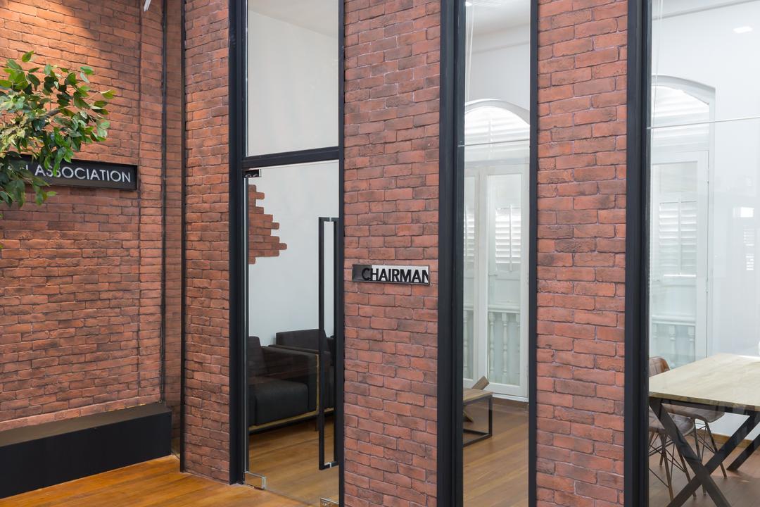Korea Association, Baum Project Pte Ltd, Contemporary, Commercial, Wooden Floor, Brick Wall, Glass Door, Recessed Lights