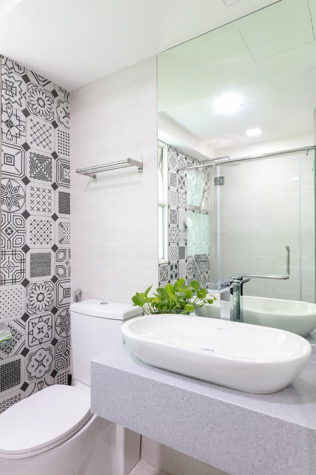 Minimalistic, Condo, Bathroom, Evergreen, Interior Designer, Baum Project Pte Ltd