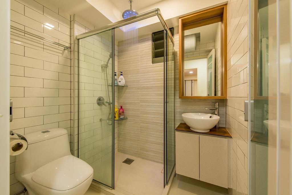 Modern, HDB, Bathroom, Waterway Brooks, Interior Designer, Posh Living Interior Design, Scandinavian, Indoors, Interior Design, Room