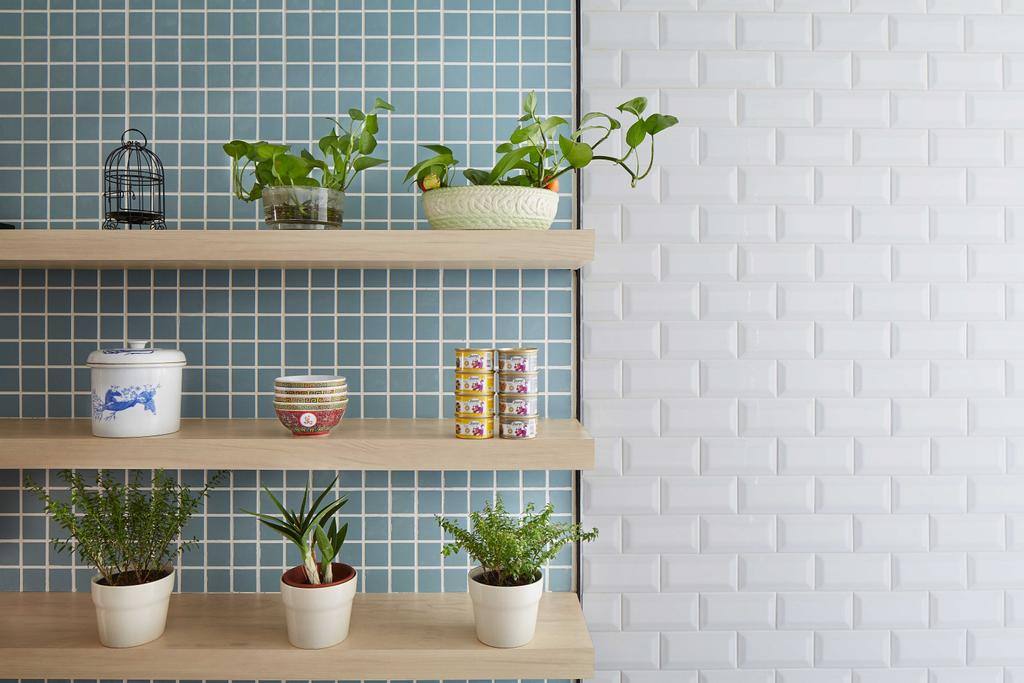 Eclectic, HDB, Kitchen, Tampines (Block 236), Architect, asolidplan, Flora, Jar, Plant, Planter, Potted Plant, Pottery, Vase, Coffee Table, Furniture, Table, Pot