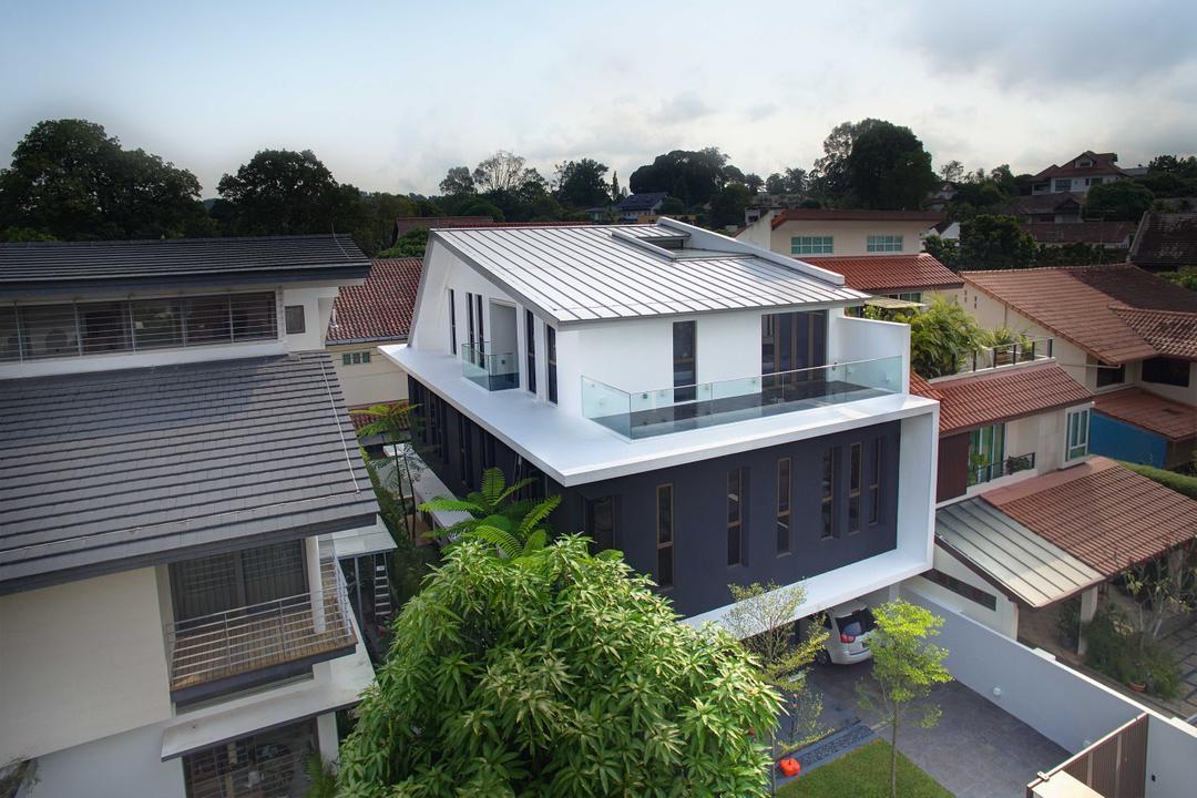 Jalan Jambu, asolidplan, Modern, Landed, Roof, Sink, Building, Housing, Apartment Building, City, High Rise, Town, Urban, House, Villa