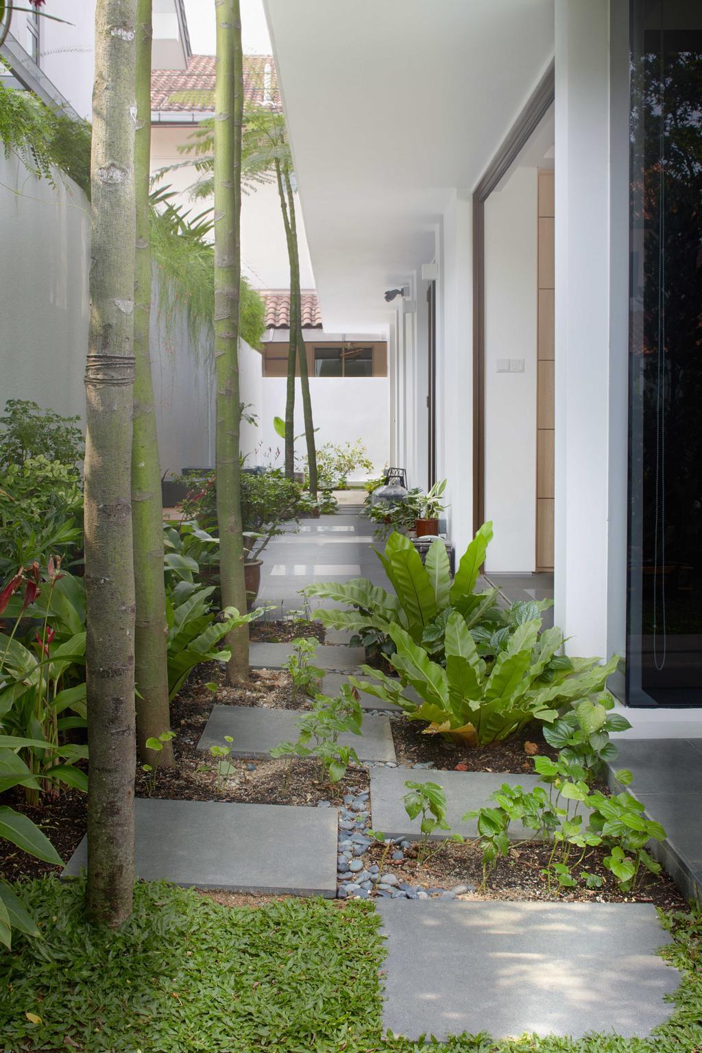 Modern, Landed, Garden, Jalan Jambu, Architect, asolidplan, Flora, Jar, Plant, Potted Plant, Pottery, Vase, Gardening, Outdoors, Porch