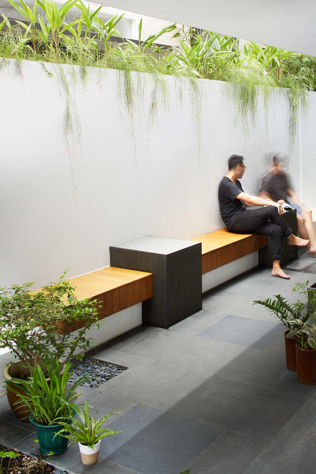 Modern, Landed, Garden, Jalan Jambu, Architect, asolidplan, Flora, Jar, Plant, Potted Plant, Pottery, Vase, Human, People, Person, Vine