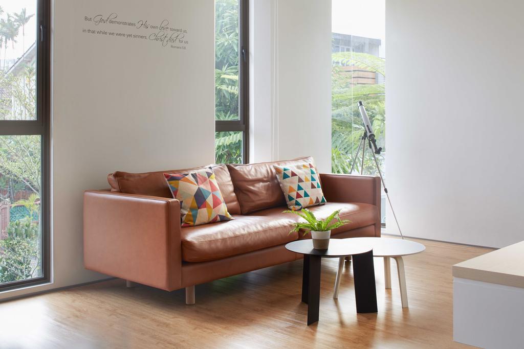 Modern, Landed, Living Room, Jalan Jambu, Architect, asolidplan, Couch, Furniture, Dining Table, Table