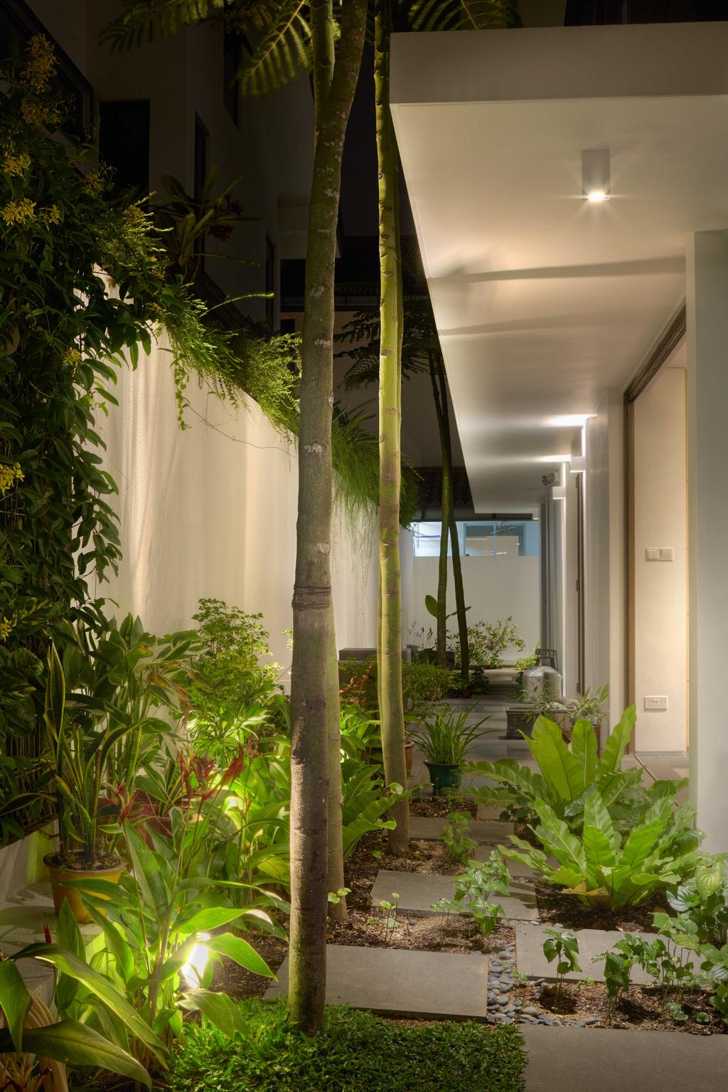 Modern, Landed, Garden, Jalan Jambu, Architect, asolidplan, Flora, Jar, Plant, Potted Plant, Pottery, Vase, Herbs, Planter