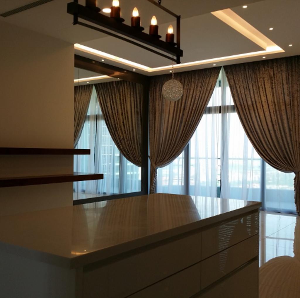 Modern, Condo, Living Room, Tropicana Grande, Interior Designer, IQI Concept Interior Design & Renovation, Minimalistic, Curtain, Home Decor, Indoors, Interior Design