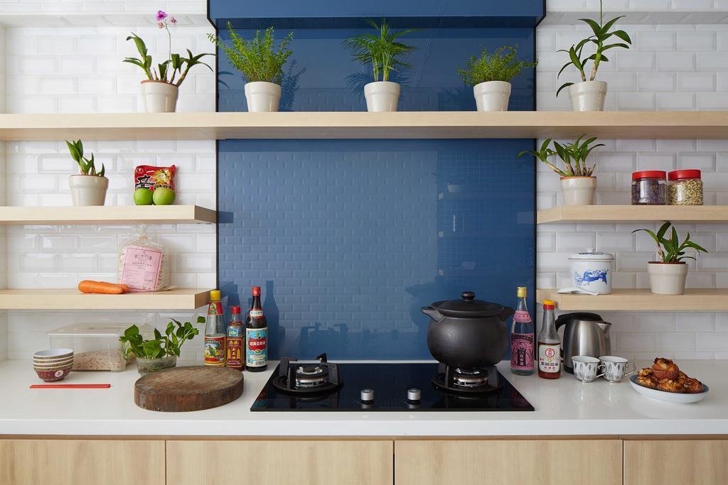 Eclectic, HDB, Kitchen, Tampines (Block 236), Architect, asolidplan, Closet, Cupboard, Furniture, Flora, Jar, Plant, Potted Plant, Pottery, Vase