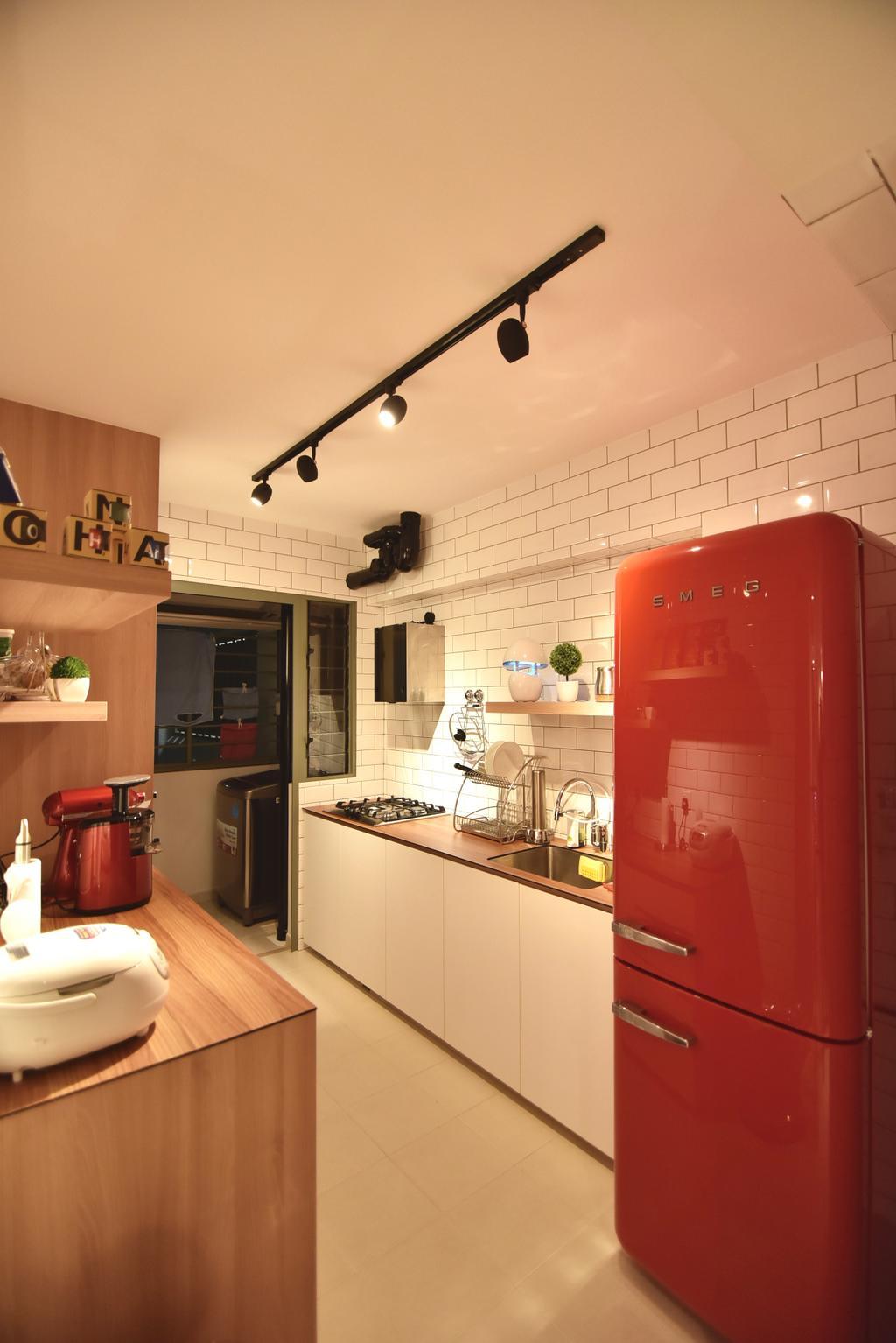 Scandinavian, HDB, Kitchen, Punggol Drive (Block 678A), Interior Designer, Van Hus Interior Design, Industrial