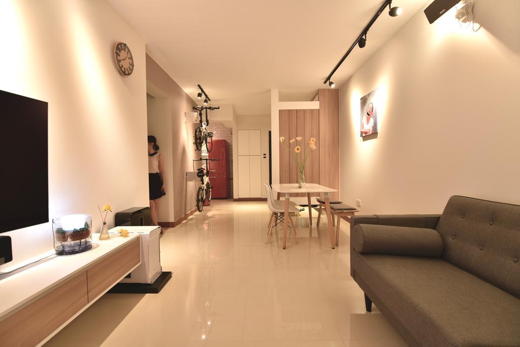 Scandinavian, HDB, Living Room, Punggol Drive (Block 678A), Interior Designer, Van Hus Interior Design, Industrial