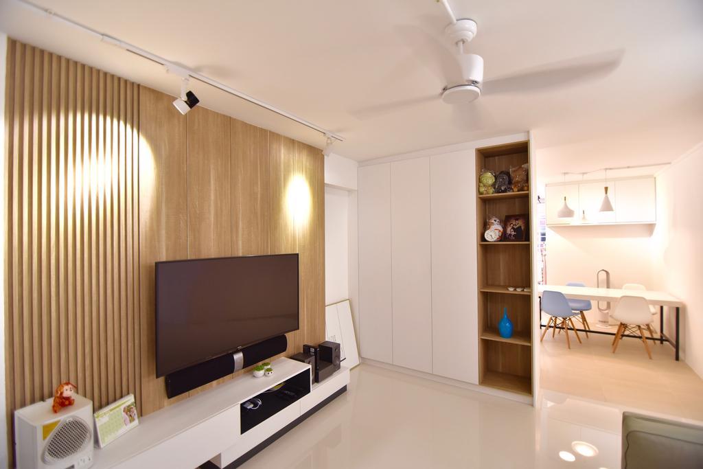 Modern, HDB, Living Room, Bishan Street 24 (Block 266), Interior Designer, Van Hus Interior Design