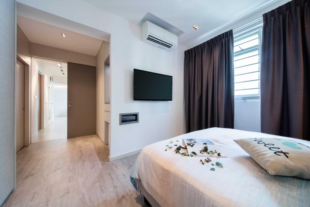 Scandinavian, HDB, Bedroom, Chai Chee Road (Block 807B), Interior Designer, KDOT, Indoors, Interior Design, Room, Bed, Furniture