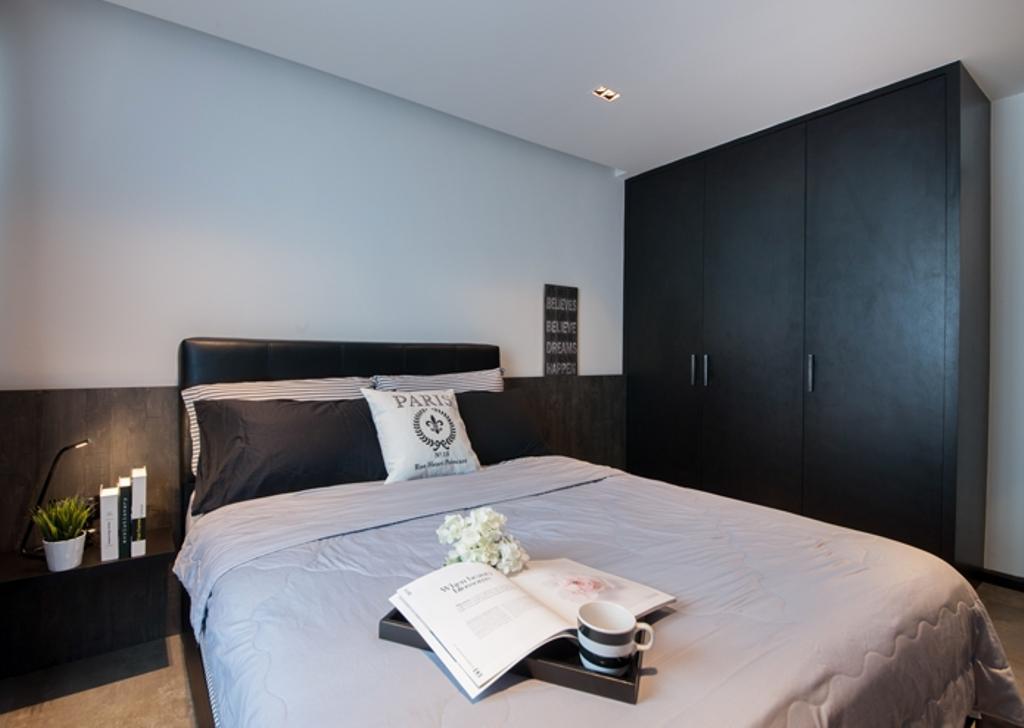 Contemporary, HDB, Bedroom, Rivervale Crescent (Block 162C), Interior Designer, KDOT, Bed, Furniture, Indoors, Room