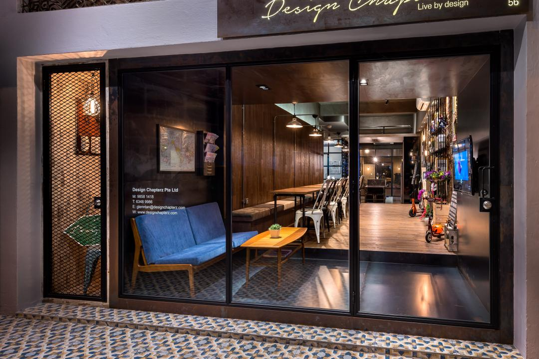 Black Frame Glass Door Interior Design Singapore Interior Design