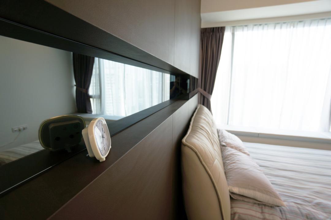 Silversea, Space Atelier, Modern, Bedroom, Condo, Hotel, Luxury, Cardboard, Hidden, Study, Computer, Desktop, Desk, Headboard, Mirror