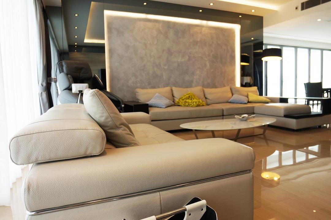 Silversea, Space Atelier, Modern, Living Room, Condo, Hotel, Luxury, Leather, Sofa, Newspaper, Holder, Muted, Couch, Furniture, Bed, Indoors, Interior Design