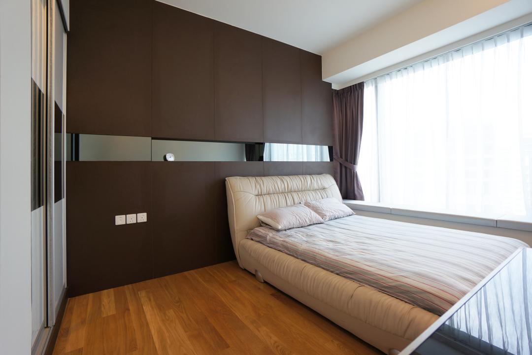 Silversea, Space Atelier, Modern, Bedroom, Condo, Hotel, Luxury, Wardrobe, Mirror, White, Wall, Feature, Room