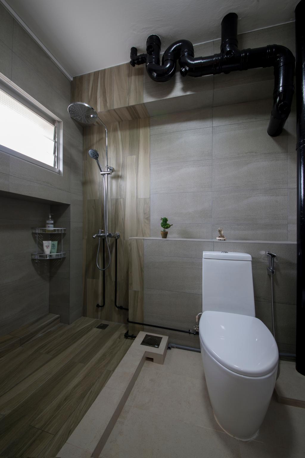 Traditional, HDB, Bathroom, Jalan Bukit Merah (Block 134), Interior Designer, Yonder, Toilet, Indoors, Interior Design, Room, Shower