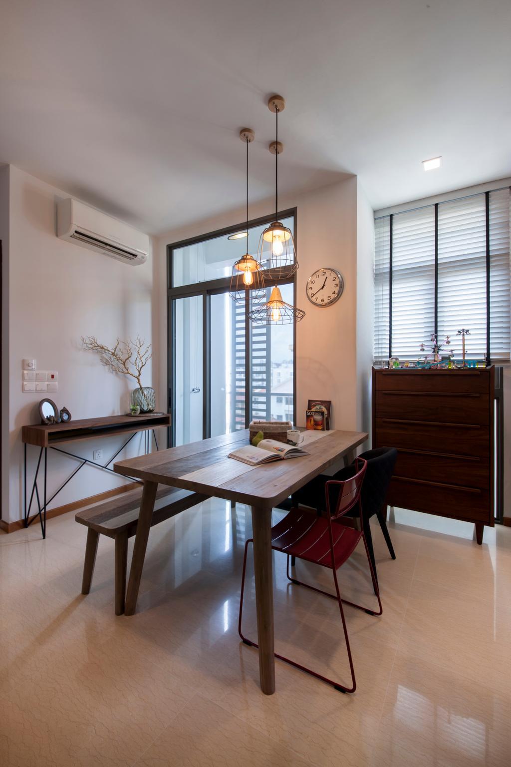 Traditional, Condo, Dining Room, Telok Kurau, Interior Designer, Prozfile Design, Industrial, Chair, Furniture, Indoors, Interior Design, Room, Dining Table, Table