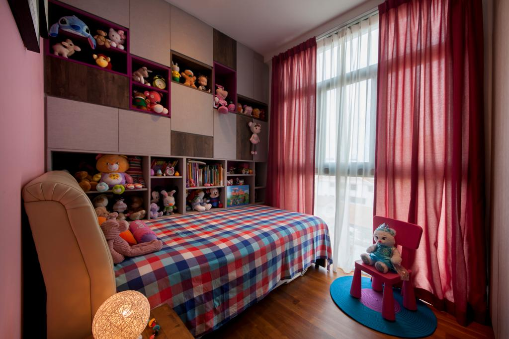 Traditional, Condo, Bedroom, Telok Kurau, Interior Designer, Prozfile Design, Industrial, Chair, Furniture, Bookcase, Indoors, Interior Design, Room