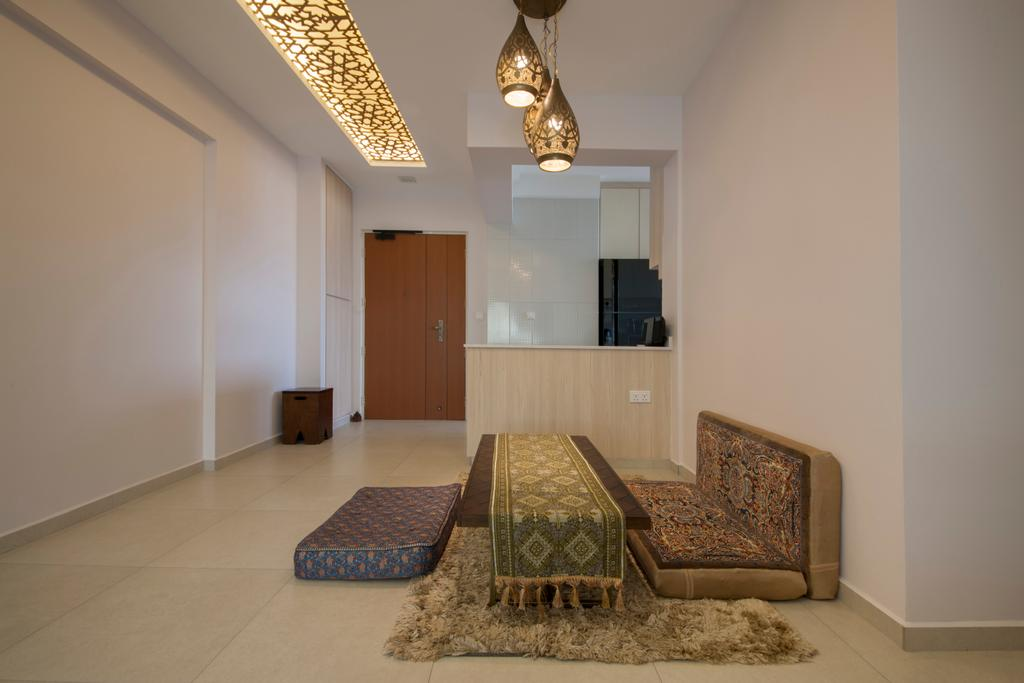 Traditional, HDB, Dining Room, Fajar Road (Block 443A), Interior Designer, Fatema Design Studio, Indoors, Room, Flooring, Interior Design