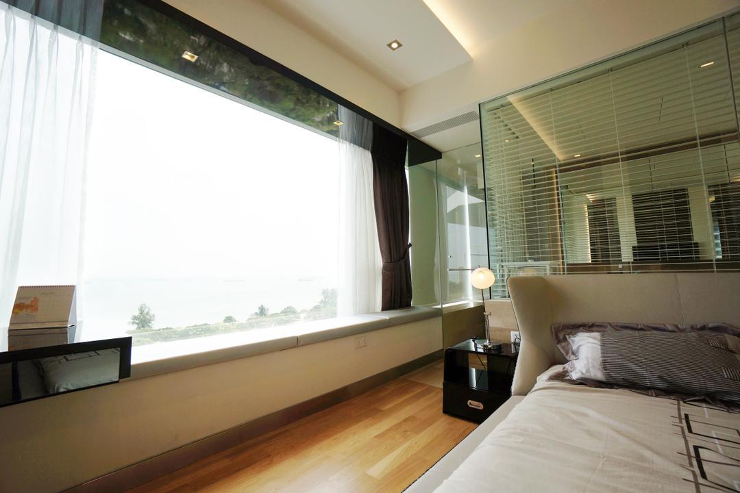 Silversea, Space Atelier, Modern, Bedroom, Condo, Hotel, Luxury, Room, Masterbed, Glass, Mirror, Open, Bathroom, Seaview, Baywindow, Bay, Windows, Indoors, Interior Design