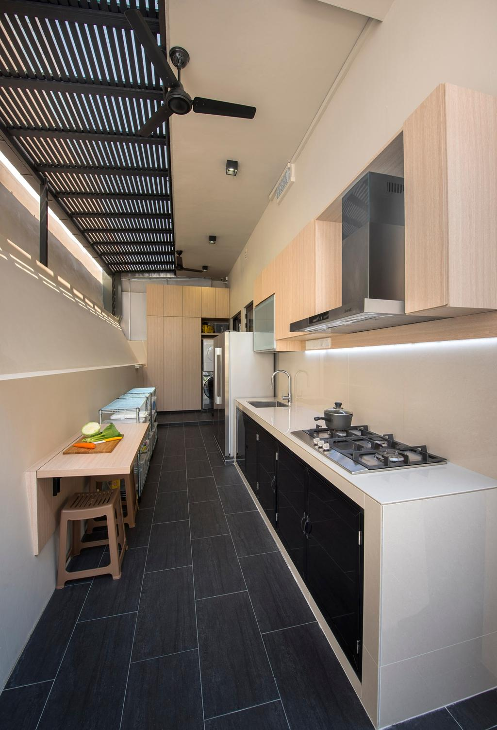 Contemporary, Landed, Kitchen, Chiselhurst Grove, Interior Designer, Space Vision Design, Indoors, Interior Design, Banister, Handrail, Staircase, Sink