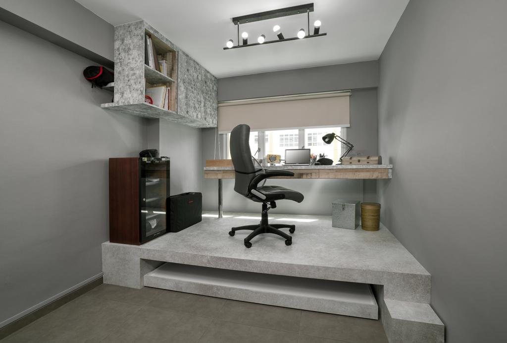 Traditional, HDB, Study, Yishun Orchid Spring (Block 432A), Interior Designer, Absolook Interior Design, Building, Housing, Indoors, Loft