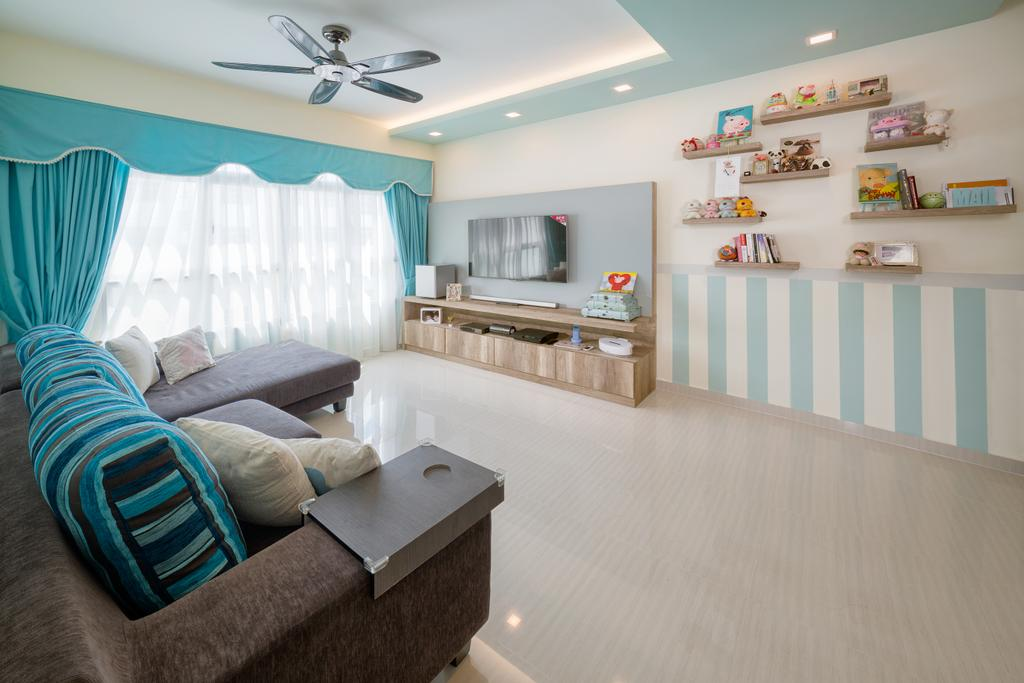 Traditional, HDB, Living Room, Yishun Orchid Spring (Block 432A), Interior Designer, Absolook Interior Design, Indoors, Nursery, Room