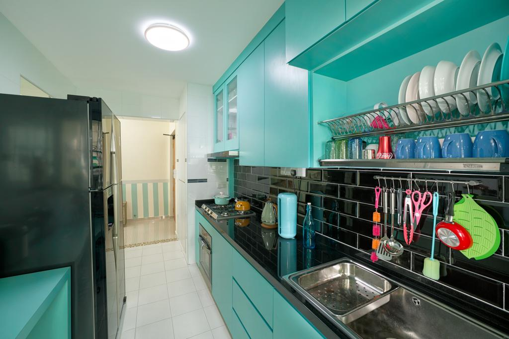 Traditional, HDB, Kitchen, Yishun Orchid Spring (Block 432A), Interior Designer, Absolook Interior Design