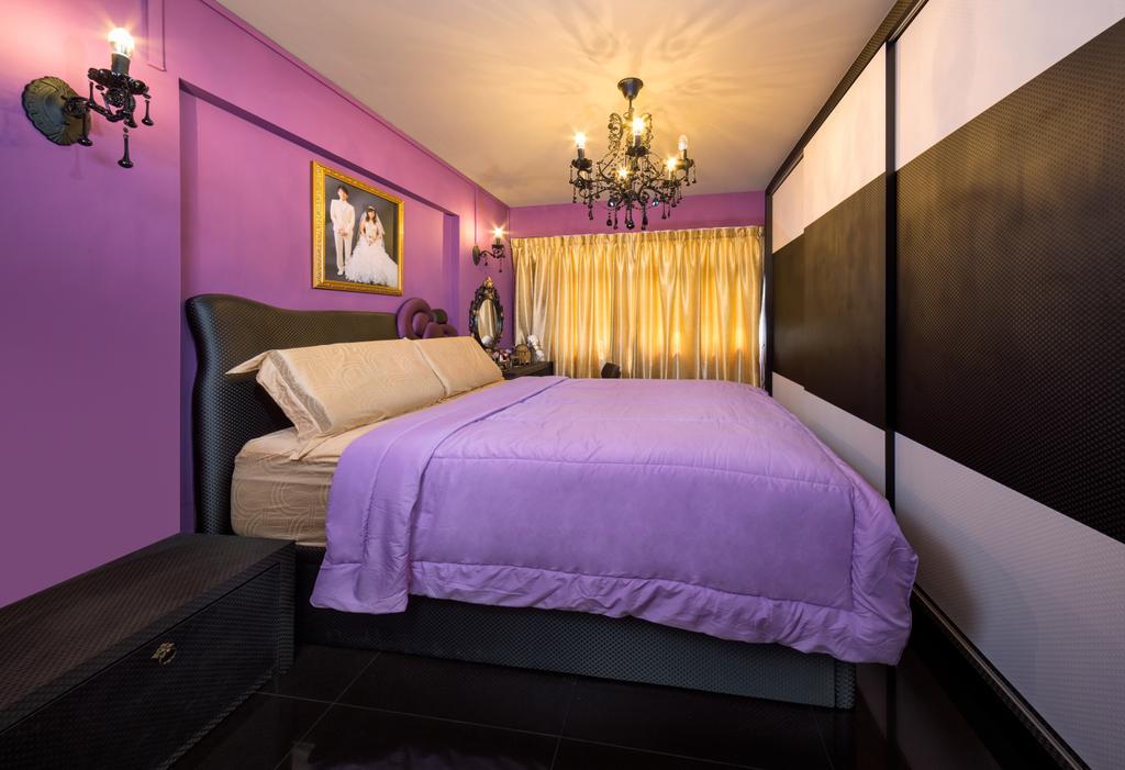 Traditional, HDB, Yishun Orchid Spring (Block 432A), Interior Designer, Absolook Interior Design, Chair, Furniture, Indoors, Room, Bedroom, Interior Design