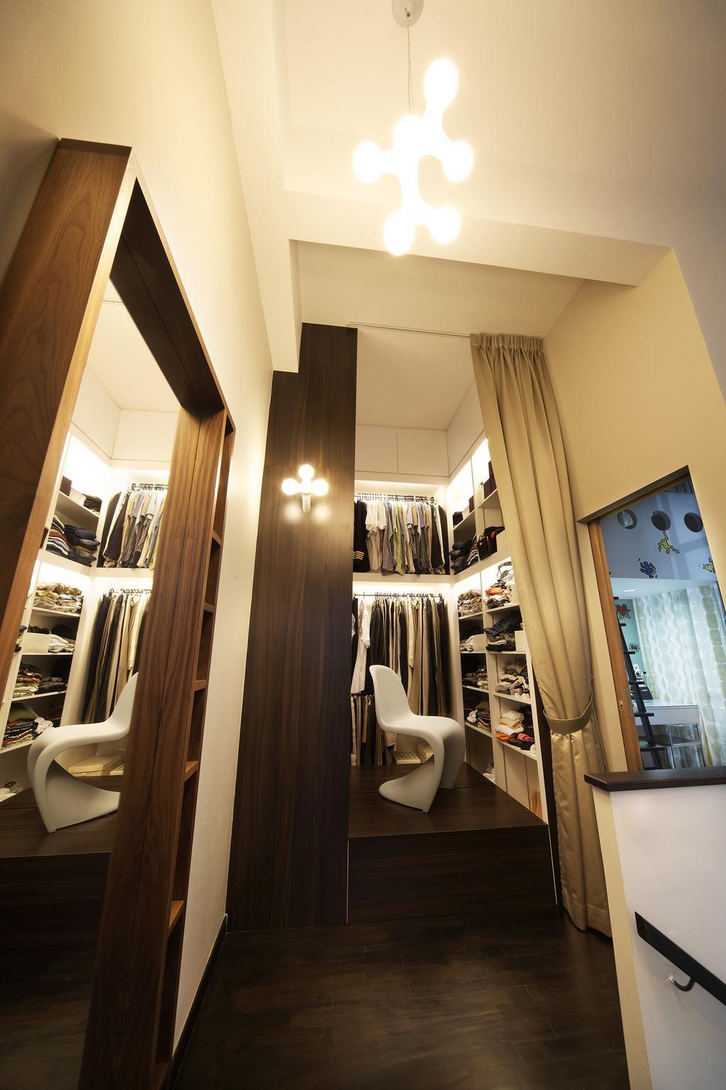 Eclectic, Condo, Study, Zedge, Interior Designer, Free Space Intent, Closet, Walk In Wardrobe, Wardrobe, Hanging Light, Bathroom, Indoors, Interior Design, Room, Furniture