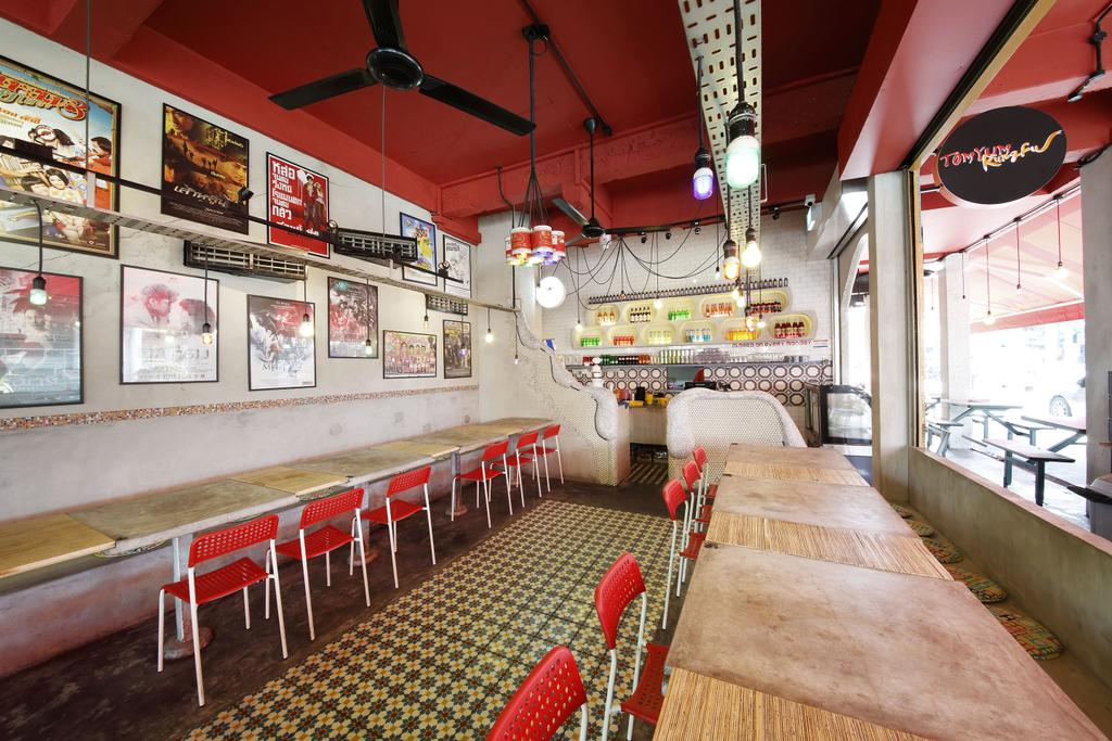 Tom Yum Kung Fu - Serangoon Garden, Commercial, Interior Designer, Free Space Intent, Vintage, Wall Art, Painting, Wooden Table, Sink, Diner, Food, Meal, Restaurant