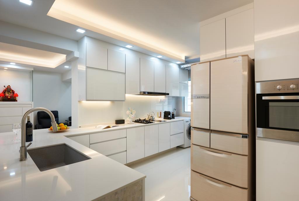 Modern, HDB, Kitchen, Choa Chu Kang (Block 604), Interior Designer, AC Vision Design