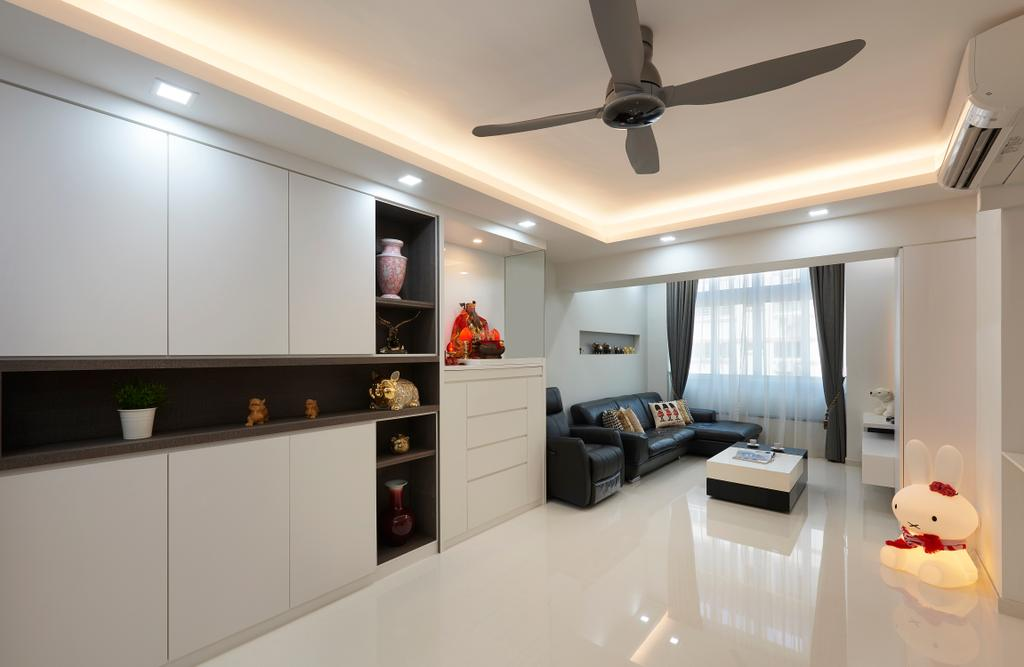 Modern, HDB, Living Room, Choa Chu Kang (Block 604), Interior Designer, AC Vision Design