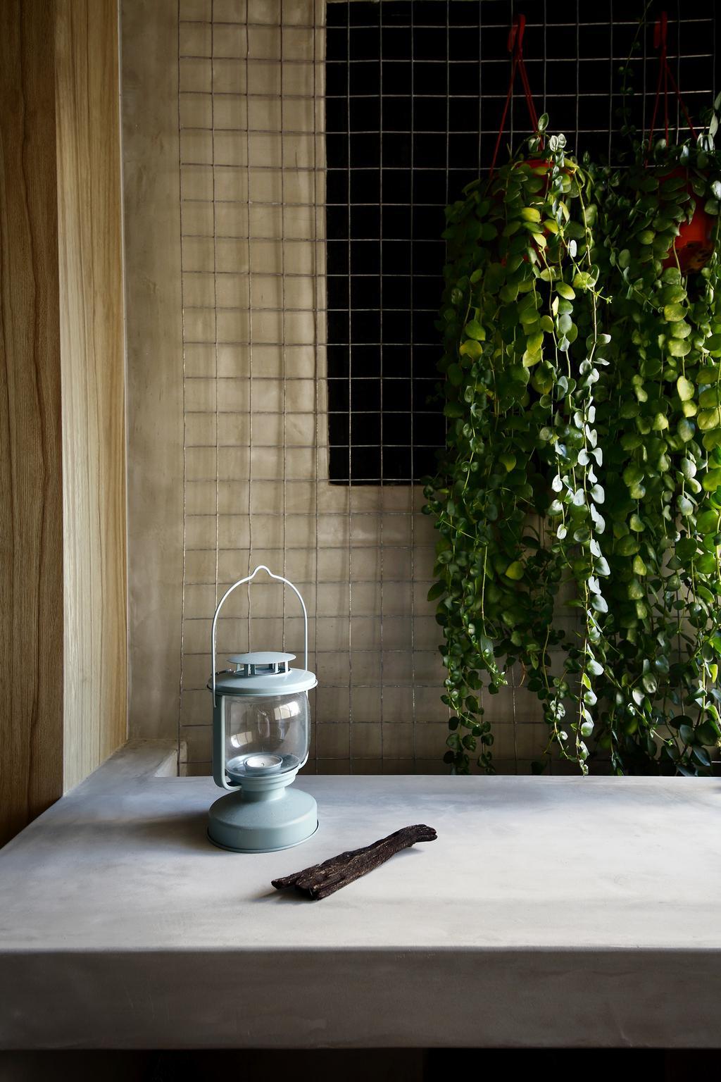 Industrial, HDB, Bathroom, Serangoon, Interior Designer, Free Space Intent, Flora, Ivy, Plant