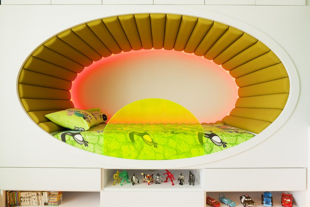 Retro, Landed, Bedroom, Lichi Avenue, Interior Designer, Free Space Intent, Display Shelf, Book Shelf