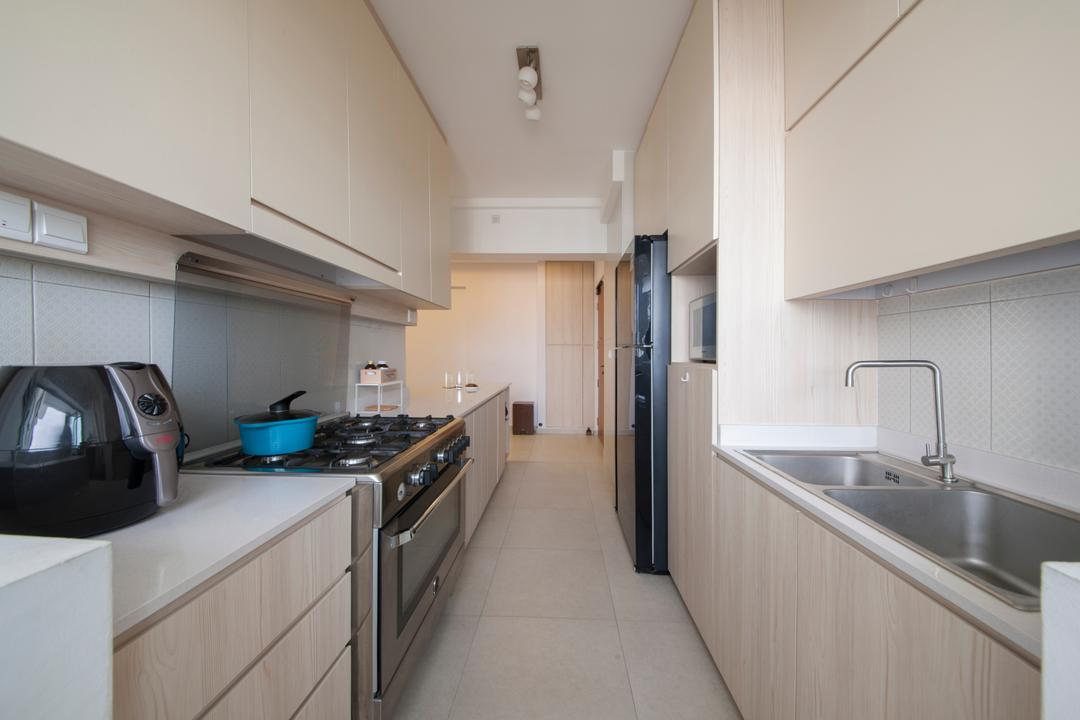 Fajar Road (Block 443A), Fatema Design Studio, Traditional, Kitchen, HDB, Sink, Appliance, Electrical Device, Toaster, Indoors, Interior Design, Room