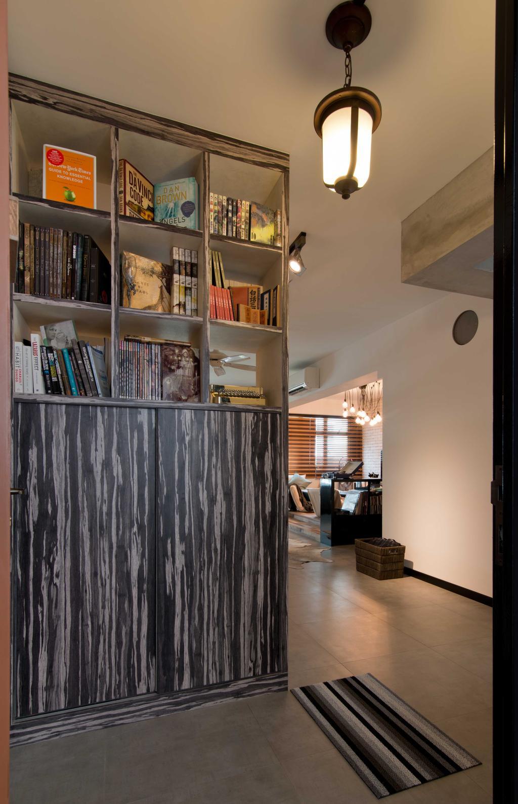 Modern, HDB, Study, Punggol Walk, Interior Designer, LS2 Design & Construction, Contemporary, Bookcase, Furniture, Shelf