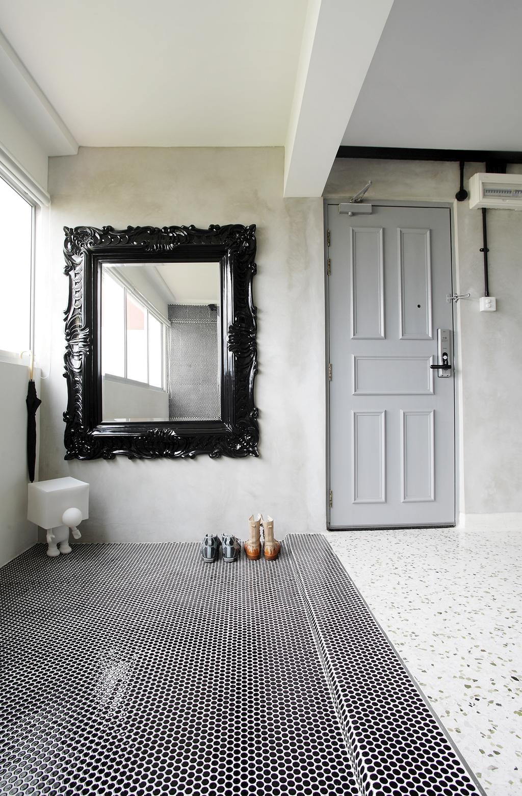 Eclectic, HDB, Living Room, Ang Mo Kio, Interior Designer, Free Space Intent, Mirror, Spotted Floor, Toilet, Bathroom, Indoors, Interior Design, Room