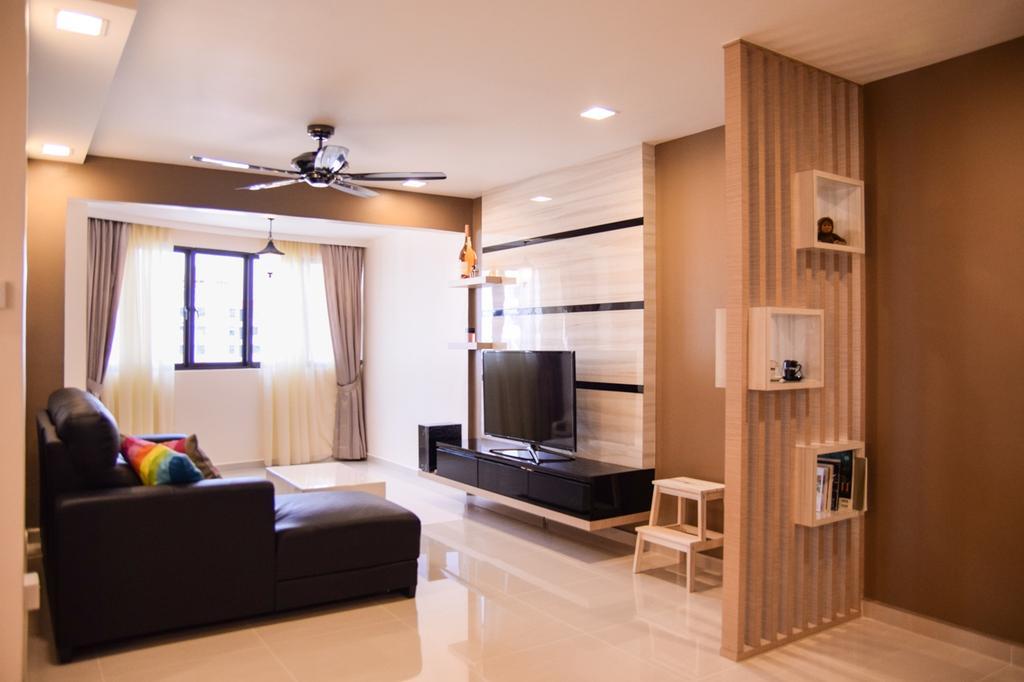 Contemporary, HDB, Living Room, Choa Chu Kang (Block 663), Interior Designer, Nitty Gritty Interior