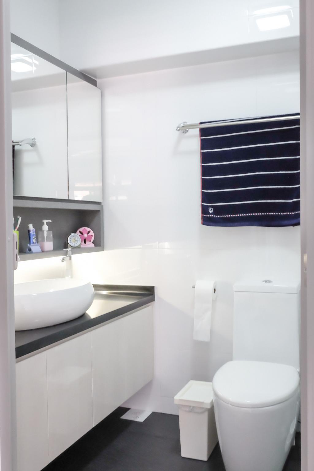 Minimalistic, HDB, Bathroom, Choa Chu Kang (Block 664), Interior Designer, Nitty Gritty Interior