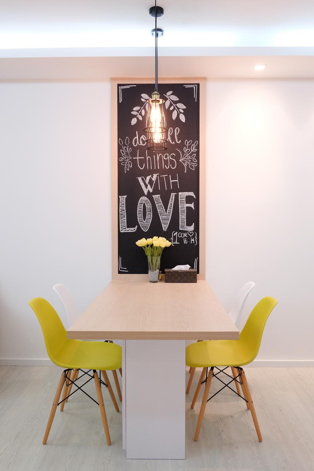 Minimalistic, Condo, Dining Room, Esparis, Interior Designer, Nitty Gritty Interior