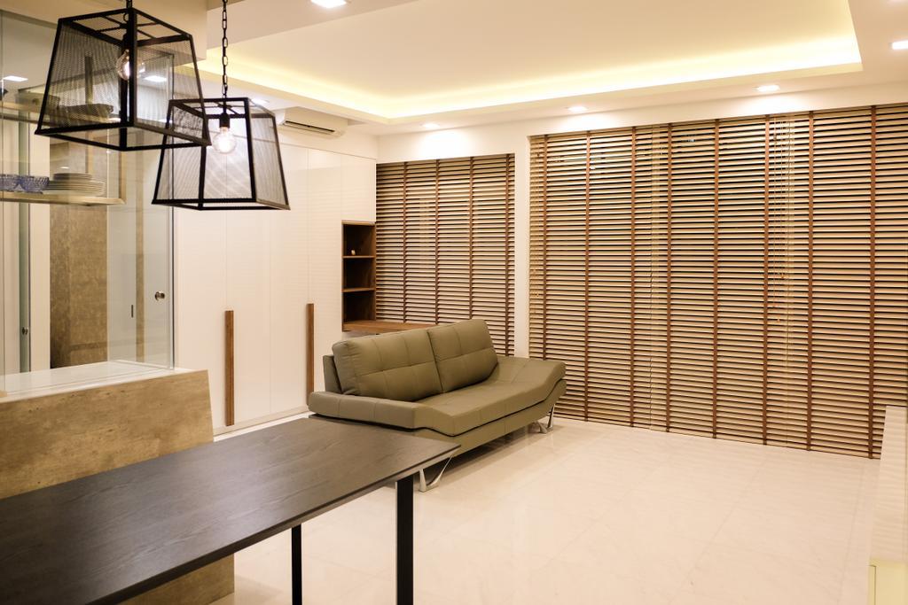 Scandinavian, Condo, Living Room, RV Residence, Interior Designer, Nitty Gritty Interior