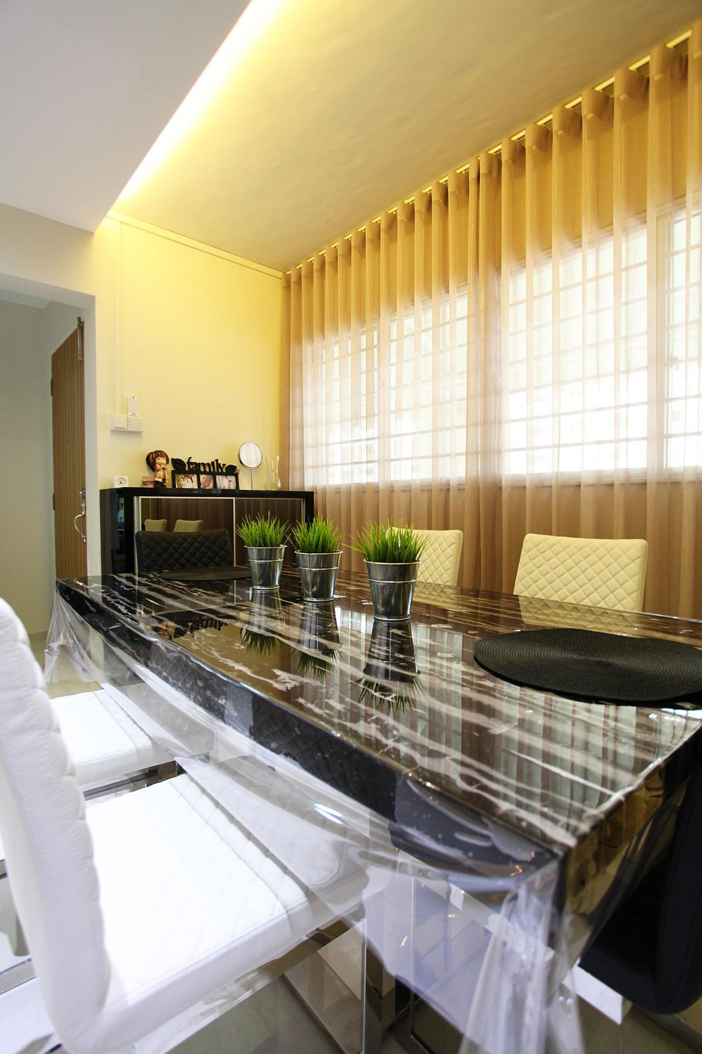 Contemporary, HDB, Dining Room, Lorong Ah Soo (Block 144), Interior Designer, DreamVision Designer
