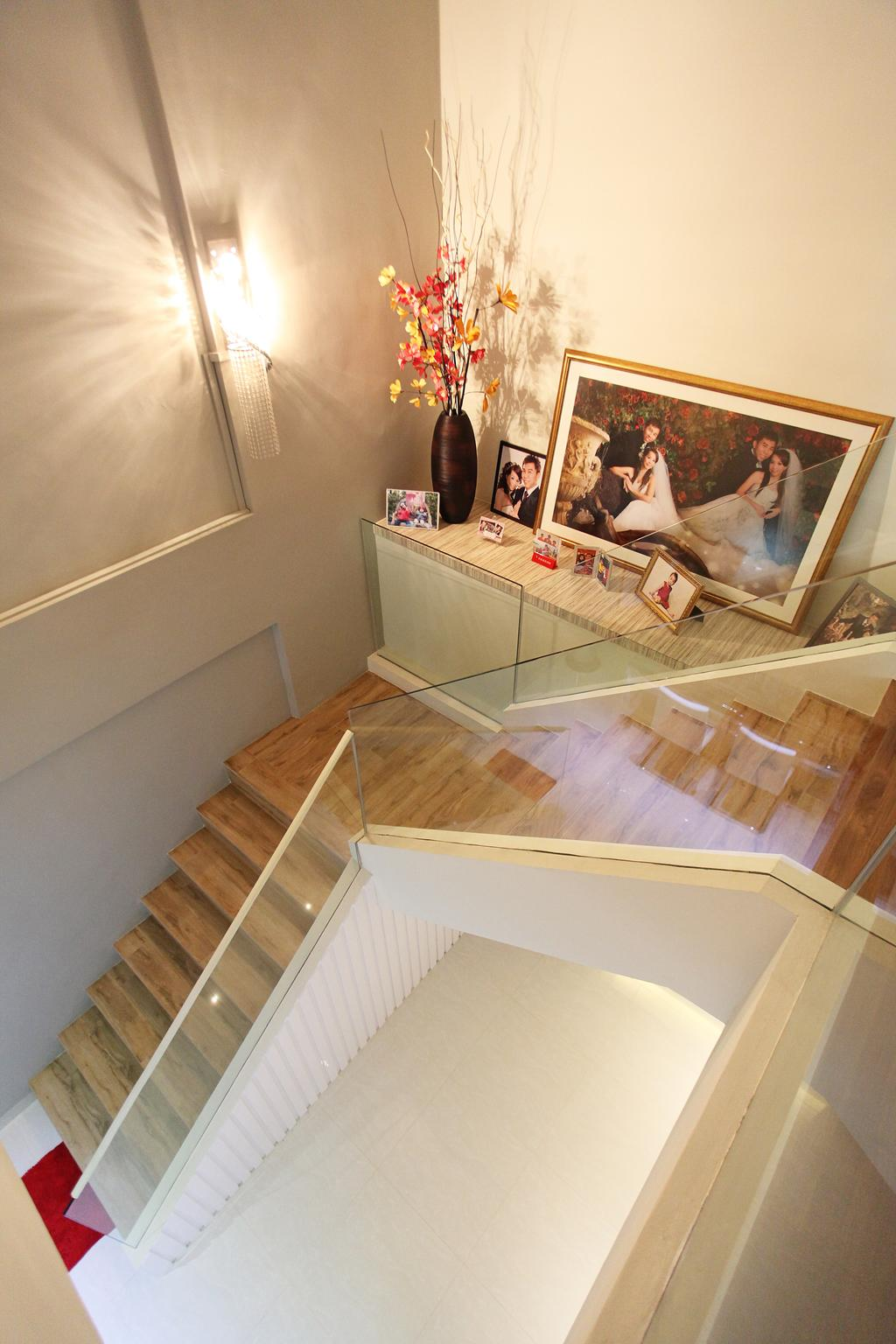 Contemporary, HDB, Living Room, Lorong Ah Soo (Block 144), Interior Designer, DreamVision Designer