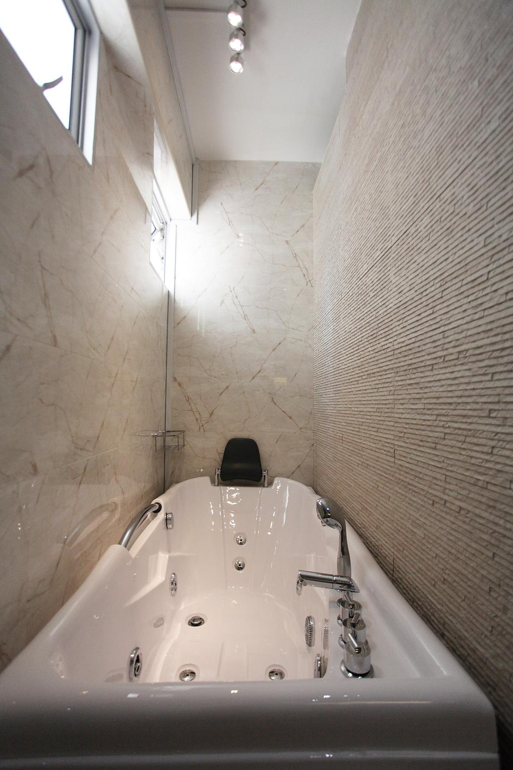 Contemporary, HDB, Bathroom, Lorong Ah Soo (Block 144), Interior Designer, DreamVision Designer