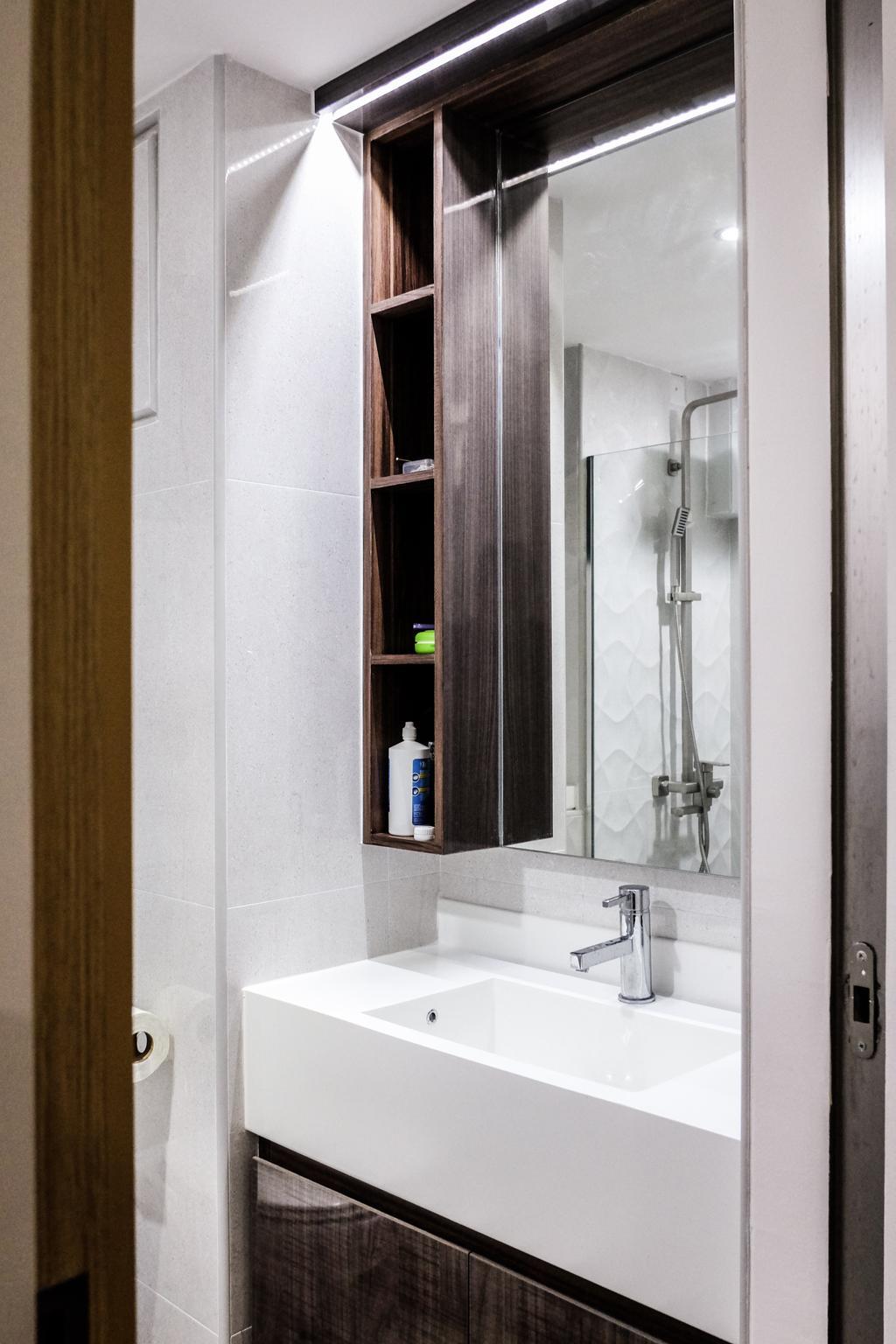 Modern, HDB, Bathroom, SkyTerrace @ Dawson (Block 89), Interior Designer, Nitty Gritty Interior