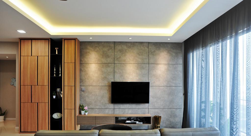 Modern, Condo, Living Room, Casa Green - Cheras, Interior Designer, Spazio Design Sdn Bhd, Minimalistic, Curtain, Home Decor, Indoors, Interior Design