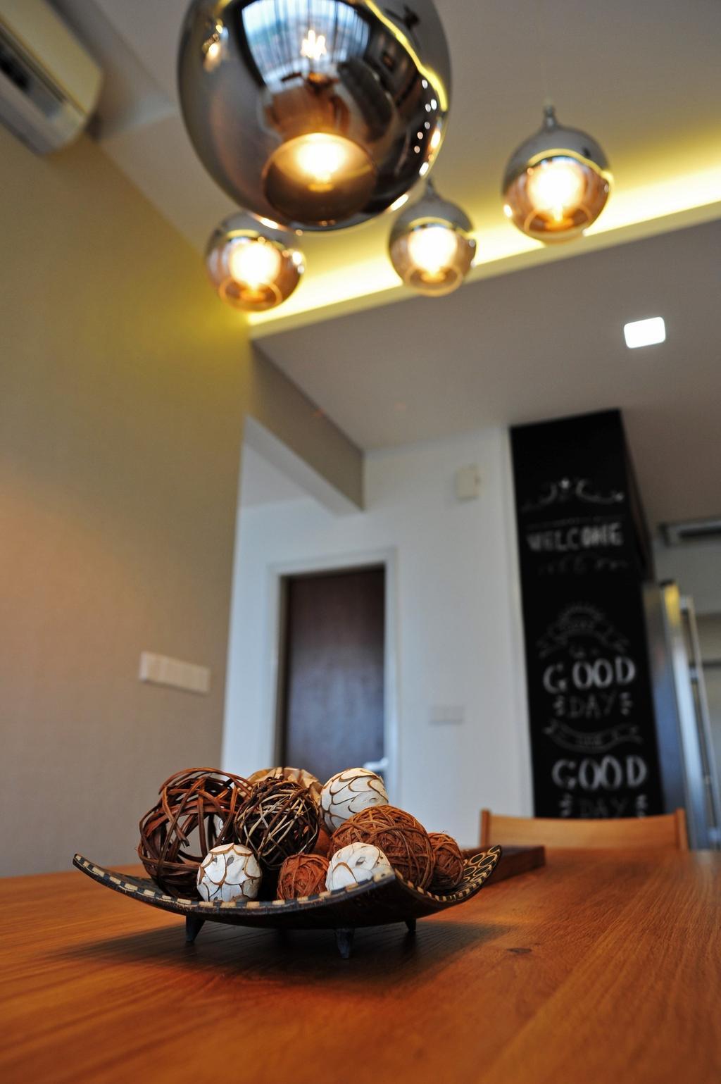 Modern, Condo, Dining Room, Casa Green - Cheras, Interior Designer, Spazio Design Sdn Bhd, Minimalistic